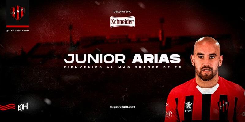 Luego de muchas idas y vueltas durante las últimas semanas, Junior Arias jugará en Patronato. El delantero uruguayo llega alRojinegro a préstamo desde Talleres de Córdoba, equipo con el que renovó contrato recientemente. AlPatrón sólo le falta una incorporación en los planes de Gustavo Álvarez.