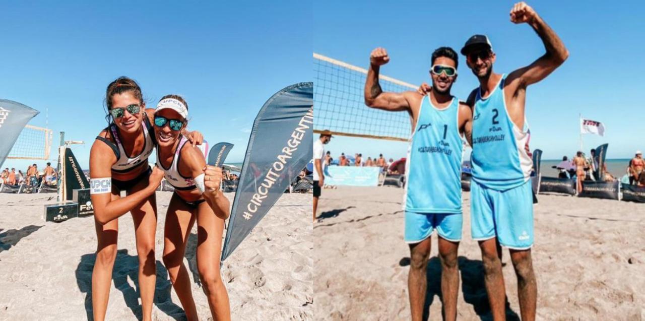 Ana Gallay y Julián Azaad volvieron a ser protagonistas en la quinta etapa del Circuito Argentino de Beach Vóley. El cerritense fue el campeón de la tarde, mientras que la nogoyaense se quedó con el segundo lugar.