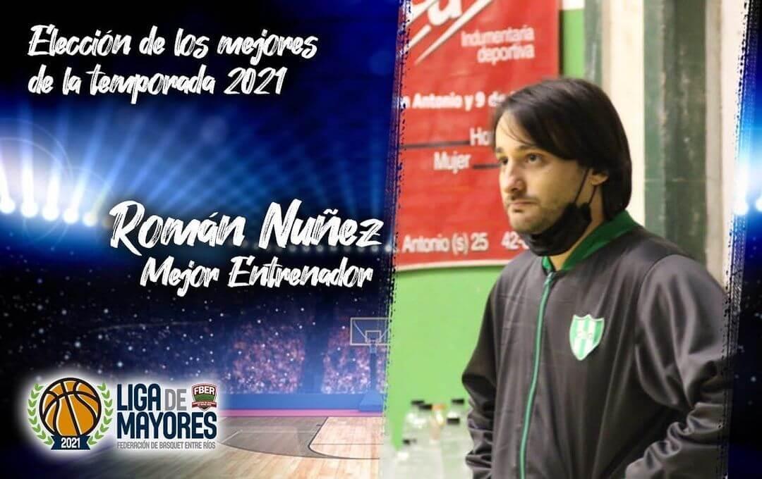 Román Núñez dialogo con La Cábala, tras consagrase campeón de la Liga Provincial Mayores Masculina 2021 con Bancario de Gualeguay.